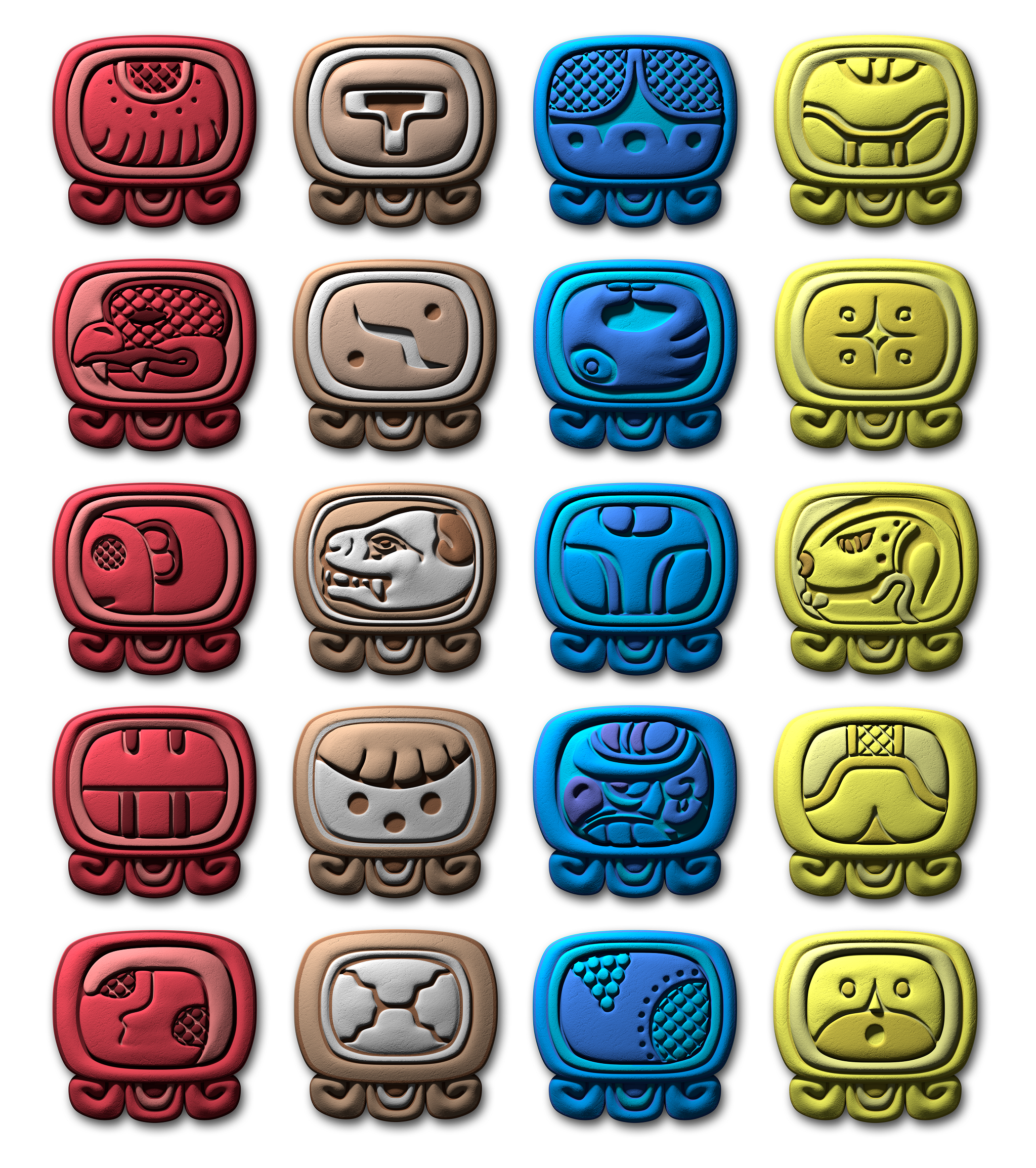 Chakras In The Sky Mayan Day Signs And Night Lords